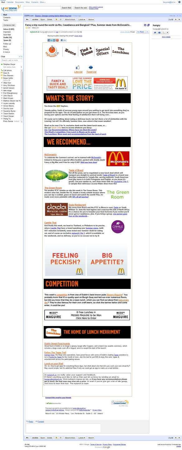 McDonalds Newsletter